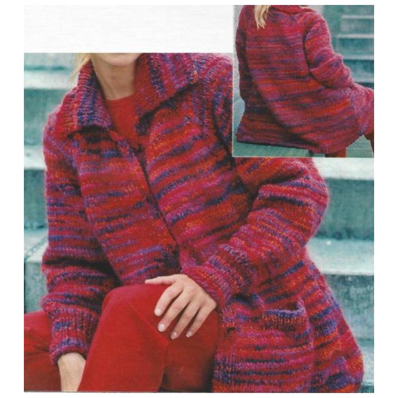 Damen jacke raglan stricken